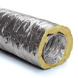 Szuperflexibilis 10m-re kihúzható hő-hangszigetelt cső  NA 125.